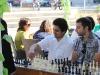 Людмил Ставрев, единственият победител срещу гросмайстор Кирил Георгиев - Сеанс на ГМ Кирил Георгиев в град Сливница