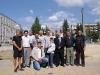 Обща снимка на организатори, шахматисти и любители - Сеанс на ГМ Кирил Георгиев в град Сливница